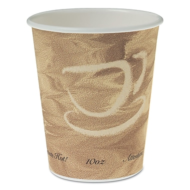 SOLO CUP COMPANY Single Sided Poly Paper Hot Cups, 10 Oz.