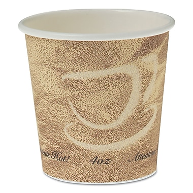 SOLO CUP COMPANY Single Sided Poly Paper Hot Cups, 4 Oz.