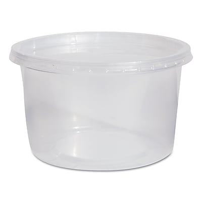 WNA AMERICAN PLASTIC Containers & Lids, 16 Oz