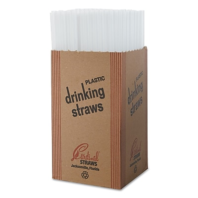 Cardinal Product Unwrapped Jumbo Straws, 250/Box, 50 Boxes/Carton
