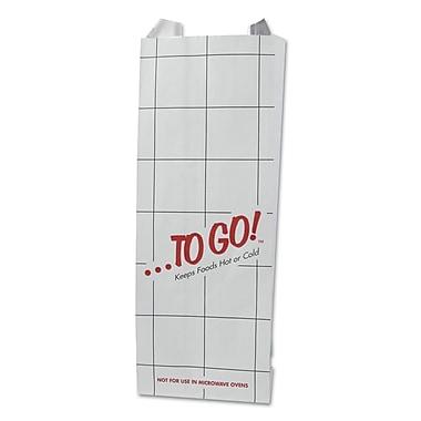 BAGCRAFT ToGo Foil Insulator Pint Paper Bag, 3