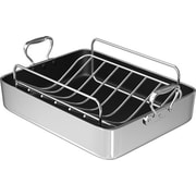 Chef's Design 16'' Polished Aluminum French Roaster w/ Rack