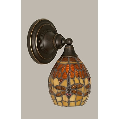 Toltec Lighting 1-Light Wall Sconce; Dark Granite