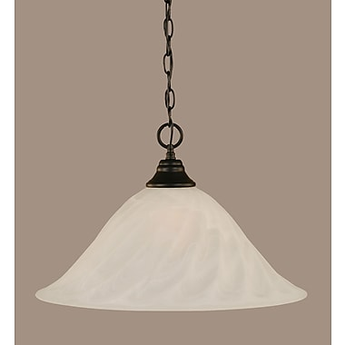 Toltec Lighting 1-Light Mini Pendant; 12.75'' H x 20'' W x 20'' D