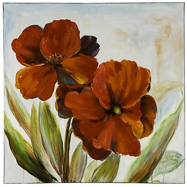 Cooper Classics Flowers Painting Oil Painting Print on Canvas