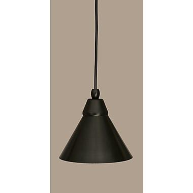 Toltec Lighting 1-Light Mini Pendant; Matte Black