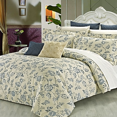 North Home Wedgewood 3 Piece Reversible Duvet Cover Set; King