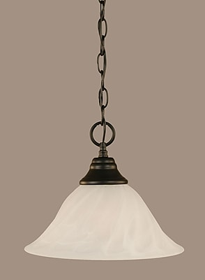 Toltec Lighting 1-Light Mini Pendant; 9.25'' H x 12'' W x 12'' D
