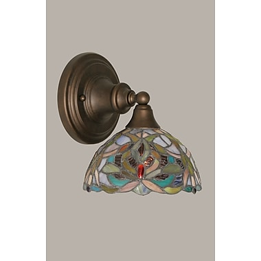 Toltec Lighting 1-Light Wall Sconce; Bronze