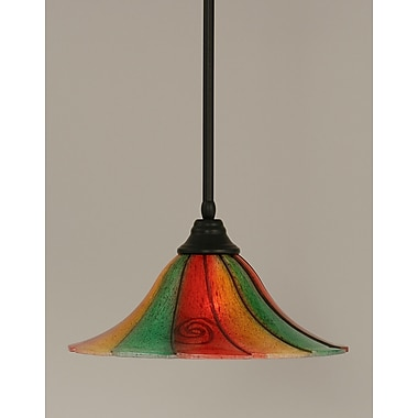 Toltec Lighting Stem 1-Light Mini Pendant; 10'' H x 16'' W