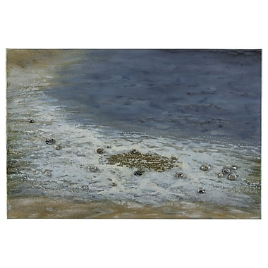Cooper Classics Pebbled Beach Painting on Wrapped Canvas