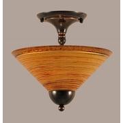Toltec Lighting 2-Light Semi Flush Mount; Bronze