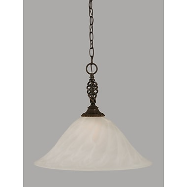 Toltec Lighting Elegante 1-Light Mini Pendant; 16.75'' H x 20'' W