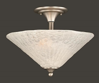 Toltec Lighting 2-Light Semi Flush Mount; Brushed Nickel