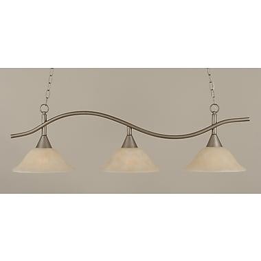 Toltec Lighting Swoop 3-Light Kitchen Island Pendant; Amber