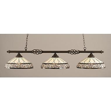 Toltec Lighting Elegante 3-Light Billiard Light