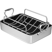 Chef's Design 14'' Polished Aluminum French Roaster w/ Rack
