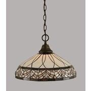 Toltec Lighting 1-Light Mini Pendant; Bronze
