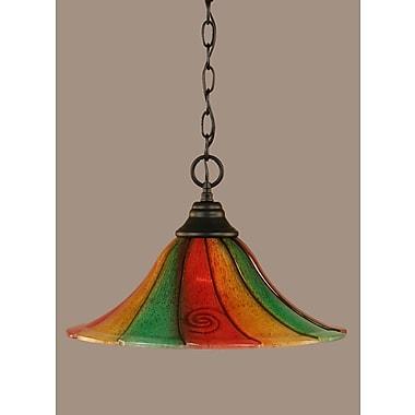Toltec Lighting 1-Light Mini Pendant; 10.25'' H x 16'' W x 16'' D