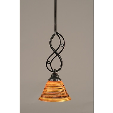Toltec Lighting Jazz 1-Light Mini Pendant; 15.5'' H x 7'' W