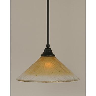 Toltec Lighting Stem 1-Light Mini Pendant; Amber