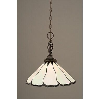 Toltec Lighting Elegante 1-Light Mini Pendant; Pearl