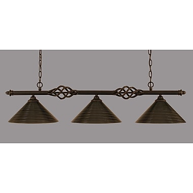 Toltec Lighting Elegante 3-Light Kitchen Island Pendant