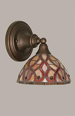 Toltec Lighting 1-Light Wall Sconce; Bronze