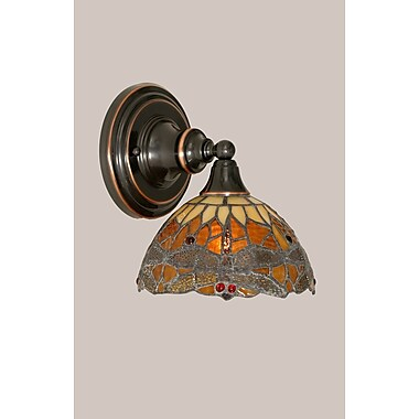 Toltec Lighting 1-Light Wall Sconce; Black Copper