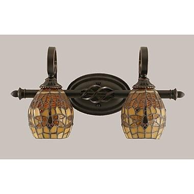 Toltec Lighting Elegante 2-Light Vanity Light