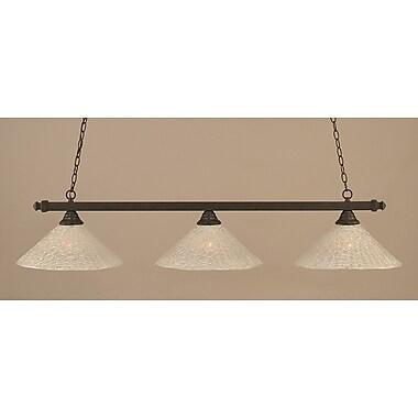 Toltec Lighting 3-Light Pool Table Light; Dark Granite