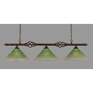 Toltec Lighting Elegante 3-Light Kitchen Island Pendant; Kiwi Green