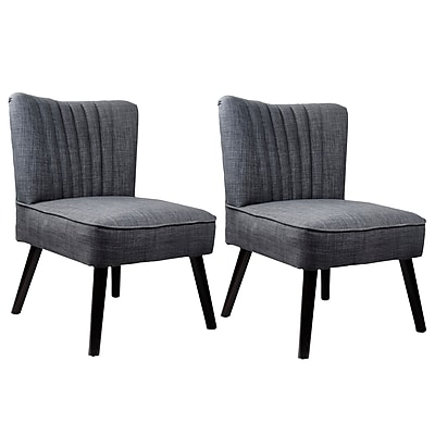 CorLiving™ Antonio Woven Fabric Accent Chair, Gray