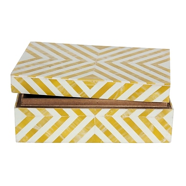 Cobistyle Covered Box, Gold and White