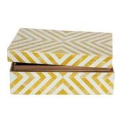 CobistyleMD – Boîte avec couvert, or et blanc