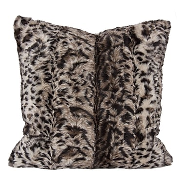 Home Details – Coussins léopard en fausse fourrure