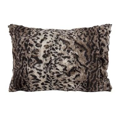 Home Details – Coussin léopard en fausse fourrure, 14 x 20 po