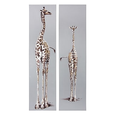 Home Details Giraffe Paintings, Assorted Sizes, Set of 2