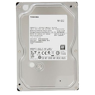 Toshiba - Disque dur interne 7200 tpm SATA 6,0 Gbits/sec., 3,5 po, 1 To