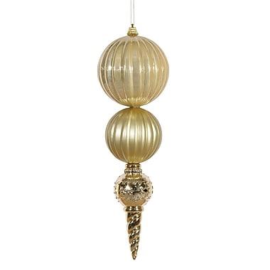 Vickerman Finial Calabash Ornament; Gold