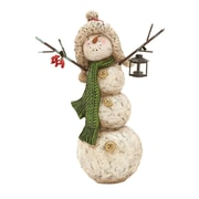 Woodland Imports Decorative Snowman with Candle Holder