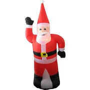 Hometime Snowtime Illuminated Inflatable Standing Santa Christmas Decoration