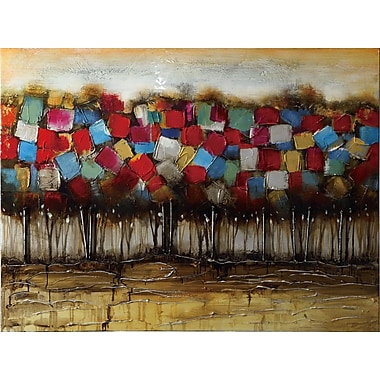 Wildon Home Patchwork Forest Painting Print on Canvas