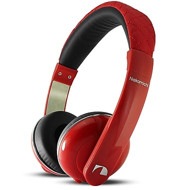 Nakamichi® NK2010 Over-The-Head Stereo Headphones, Red