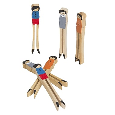 Household Essentials 12-Piece Painted Birchwood Clothespin People