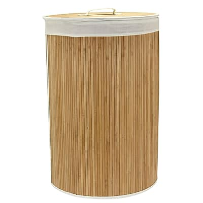 Household Essentials Bamboo Hamper with Cedar Bottom, Round
