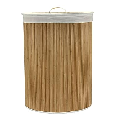 Household Essentials Bamboo Hamper with Cedar Bottom, Oval