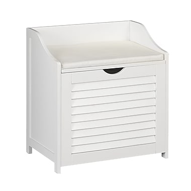 Household Essentials Single Load Cabinet Hamper Seat