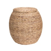 Household Essentials Water Hyacinth Wicker Storage Basket