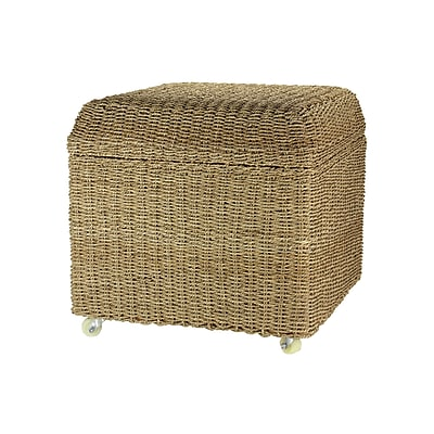 Household Essentials Seagrass Wicker Accent Table, Brown, Each (ML-5650)